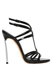 Casadei  Glossy Patent Blade Heel Sandals