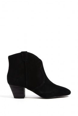 Ash Black Spiral Suede Ankle Boots