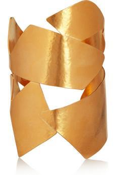Hervé Van der Straeten  Hammered Gold-Plated Cuff