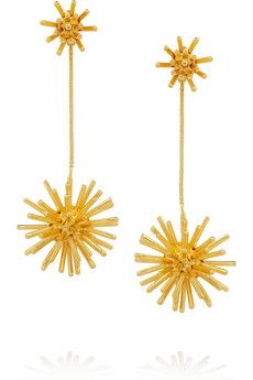 Aurélie Bidermann  Condor Gold-Plated Clip Earrings
