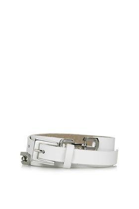 Topshop  Topshop Double Snaffle Skinny Belt