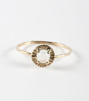 Claire Kinder Studio Alba Etruscan Moonstone Ring