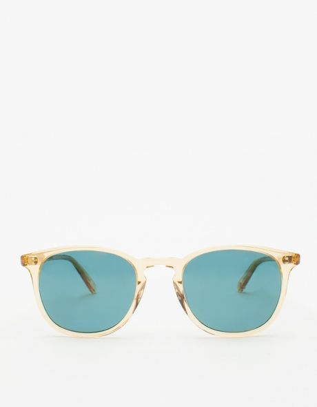 Garrett Leight  Kinney Champagne/Blue Smoke Sunglasses