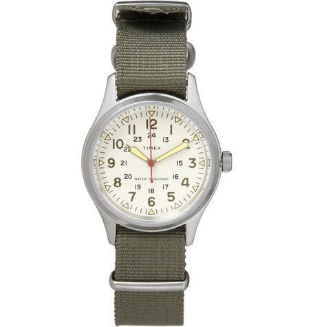Timex x J.Crew Vintage Army Steel Watch