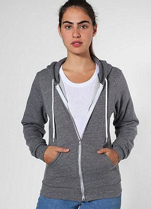 American Apparel  American Apparel Salt and Pepper Zip Hoodie
