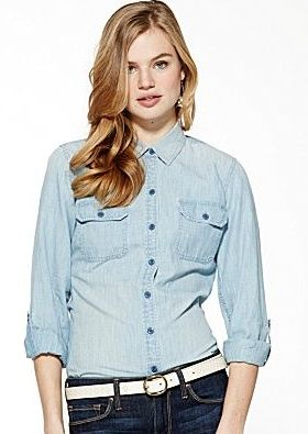 Lucky Brand  Brooke Chambray Shirt