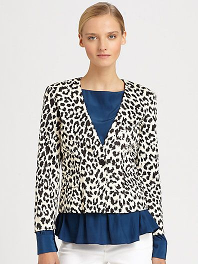 Thakoon Addition  Leopard Print Blazer