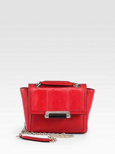 Diane von Furstenberg  Multi-Textured Leather Crossbody Bag