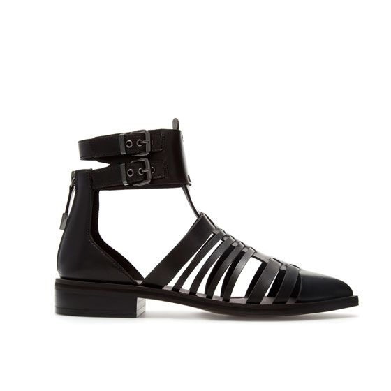 Zara  closed toe strappy sandals
