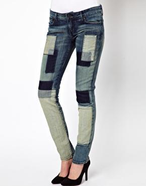 Kill City  Patchwork Stretch Junkie Skinny Jeans