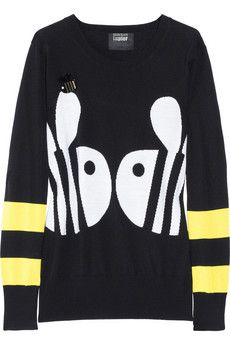 Markus Lupfer  Loves Hillier Wool Bumblebee Sweater