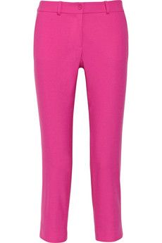 Michael Kors Samantha Cropped Stretch-Wool Pants
