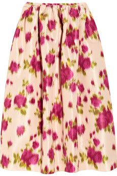 Michael Kors Printed Faille Skirt