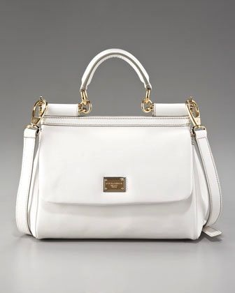 Dolce & Gabbana  Small Miss Sicily Leather Handbag