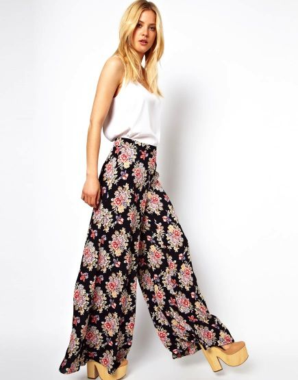 ASOS  Collection Wide Leg Pants in Vintage Floral