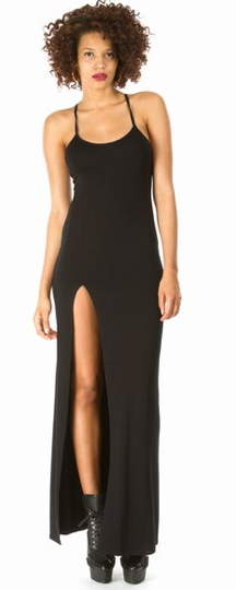 Rihanna for River Island Thigh-High Split Simple Maxi Dress