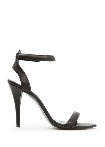 Mango Leather Ankle Strap Sandals