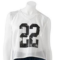 Derek Heart Mesh Sleeveless Football Jersey