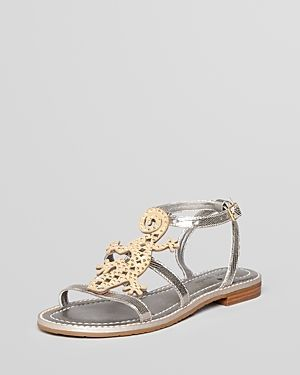 Kate Spade New York Slick Lizard Flat Sandals