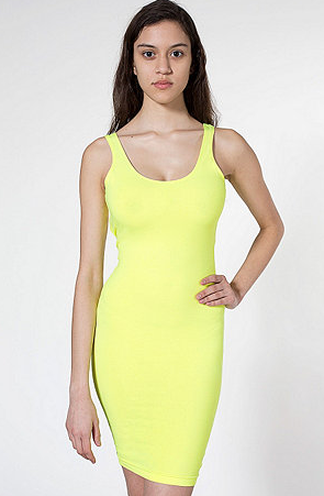 American Apparel Cotton Spandex Jersey Scoop Back Tank Dress