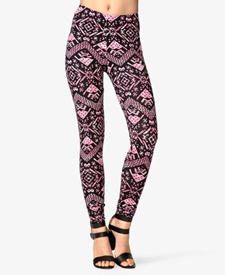 Forever 21 Multicolored Tribal Print Leggings