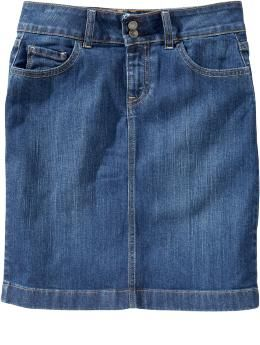 Old Navy Double-Button Denim Pencil Skirt