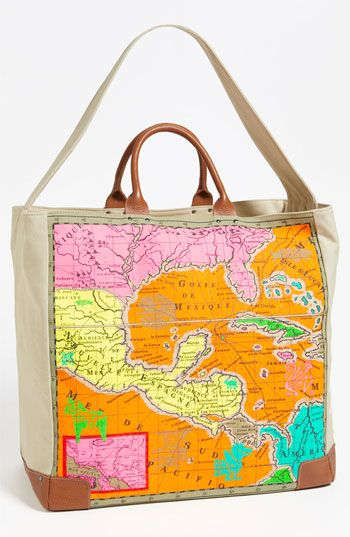 Echo  Map Of Mexico Tote Bag