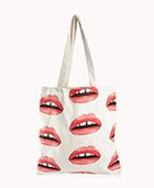 Forever 21  Retro Lips Canvas Tote