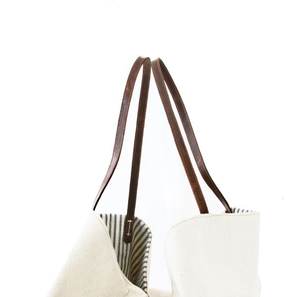 Khoi Le Garten Canvas and Leather Tote