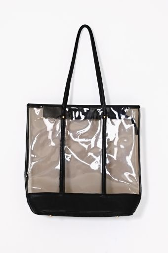 Nasty Gal  Clear Contrast Tote