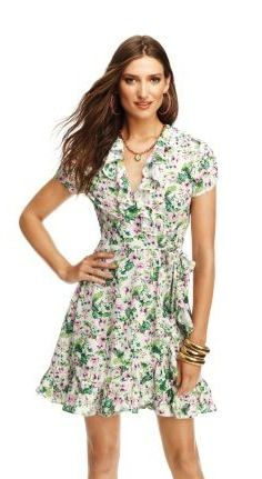 Juicy Couture Juicy Couture Floral Crepe Wrap Dress