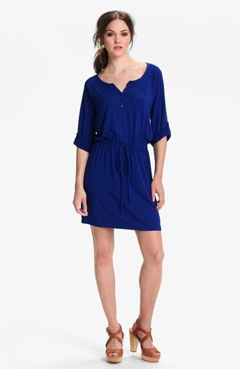 Calson  Knit Henley Dress
