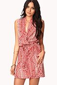 Forever 21  Tribal Print Surplice Dress