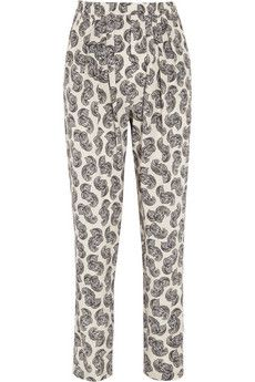 Stella McCartney  Christine African Floral-Print Silk Tapered Pants