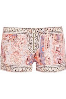 Isabel Marant  Jayson Studded Stretch-Denim Shorts