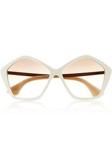 Miu Miu  Hexagonal-Frame Acetate and Metal Sunglasses