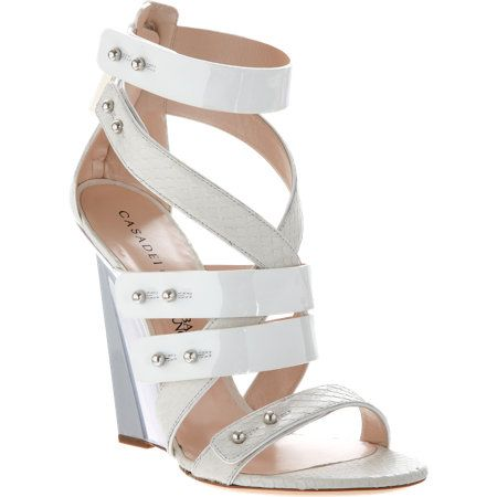 Casadei for Prabal Gurung  Strappy Blade Wedge Sandals