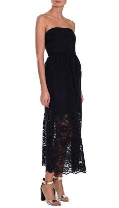 Tibi Tibi Lace Strapless Dress
