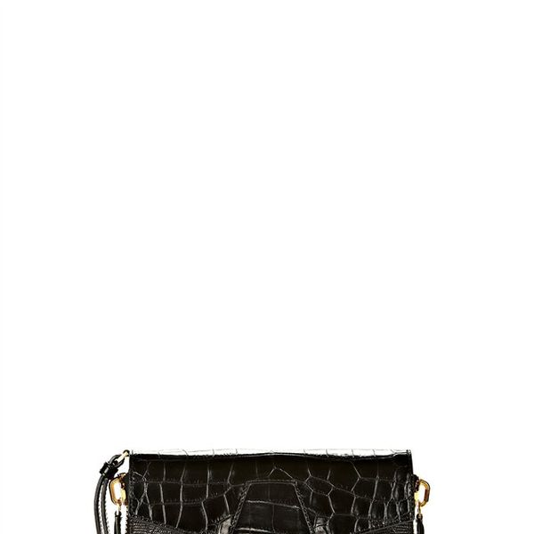 Alexander Wang  Lydia Bag in Printed Black with Yellow Gold