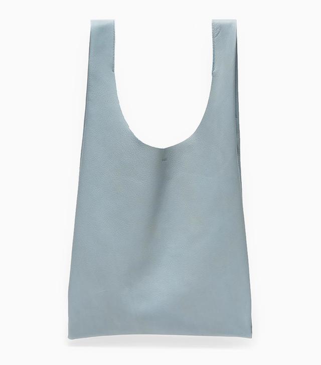 Baggu Leather Baggu in Smokey Blue