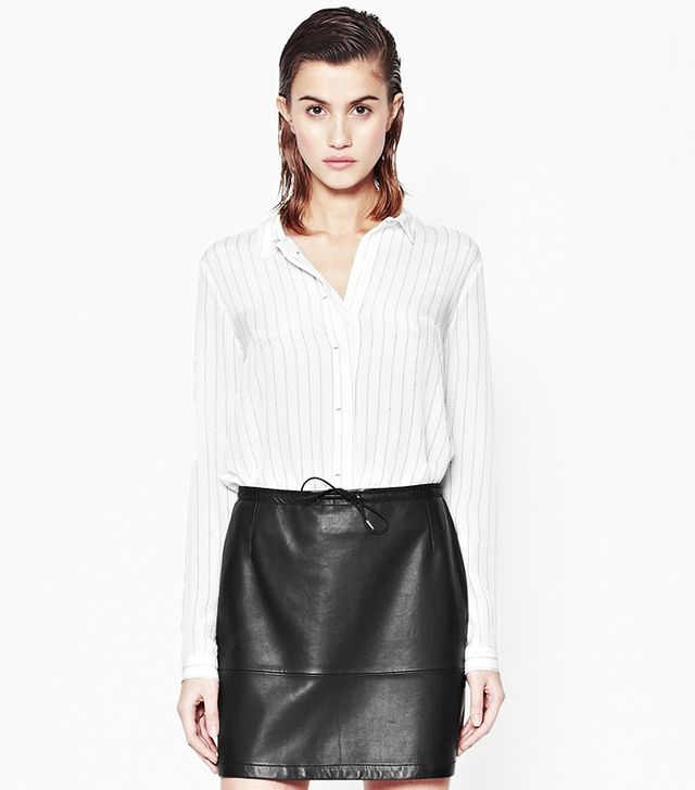 French Connection Letter Pinstriped Shirt