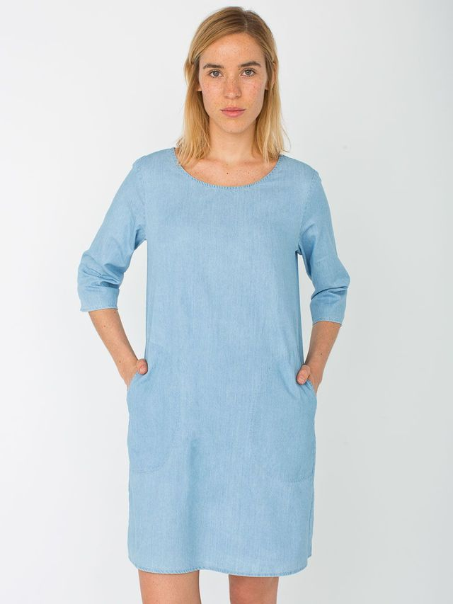 American Apparel Denim Tent Dress