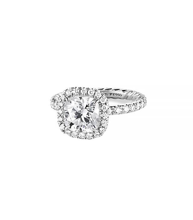 David Yurman Capri Pave Engagement Ring in Platinum