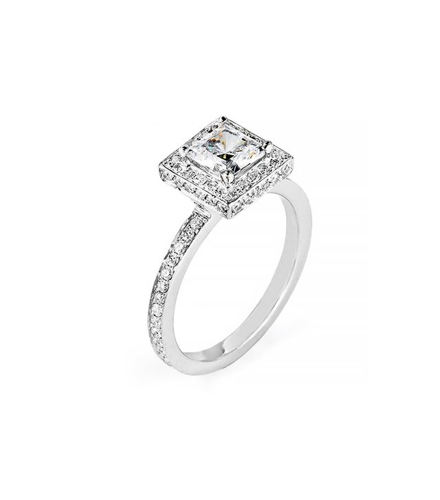 Michael M. R294 Handcrafted Pave Set Diamond Ring
