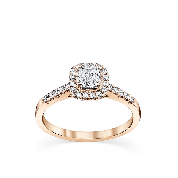 Robbins Brothers 14K Rose Gold Halo Diamond Engagement Ring