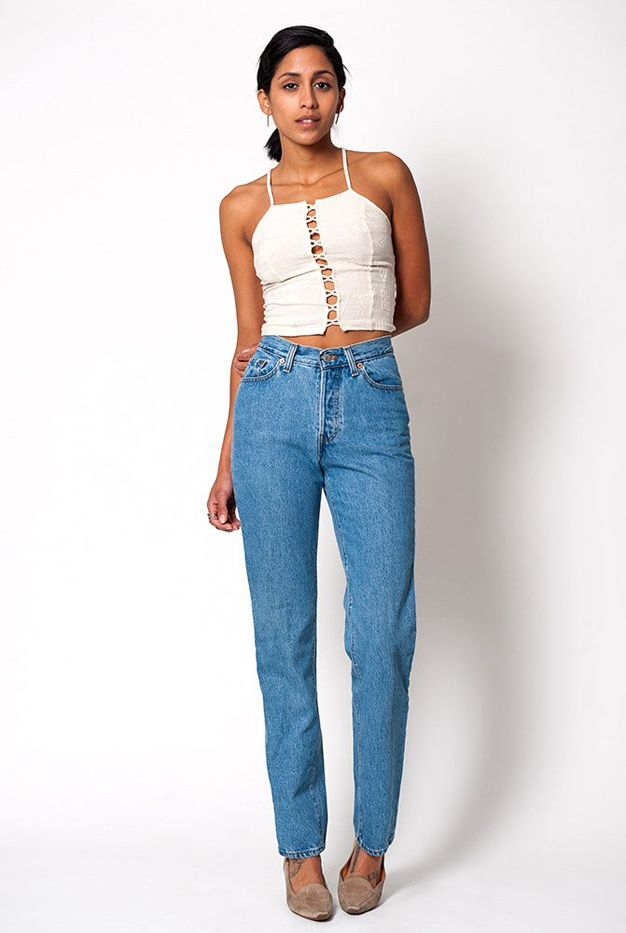 Denim Refinery The High Waisted Light Wash Levi's Jeans