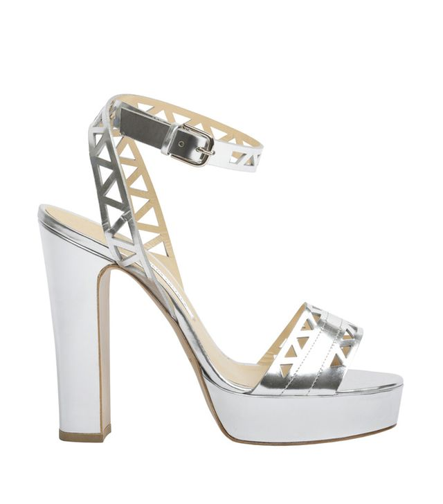 Bionda Castana Zoe Calf Leather Laser Cut Platform Sandals