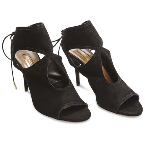 Aquazurra Cut Out Suede Heels
