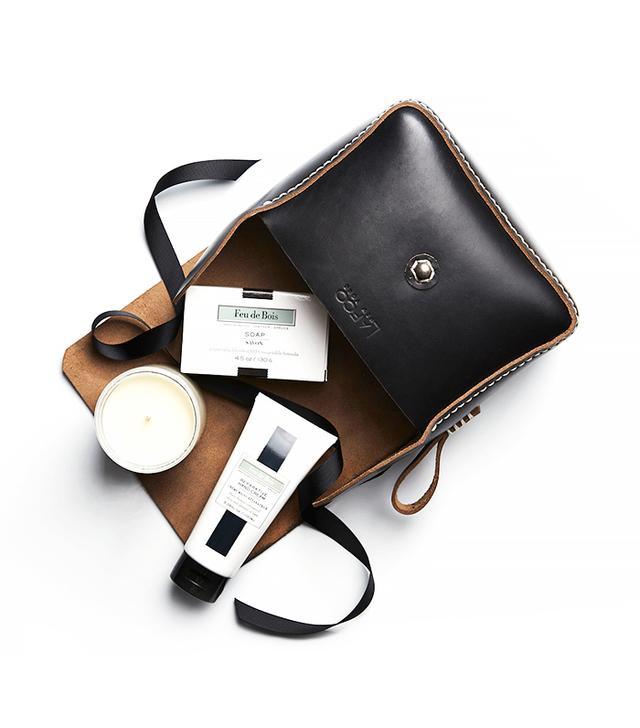 Lafco New York Handmade Leather Dopp Kit