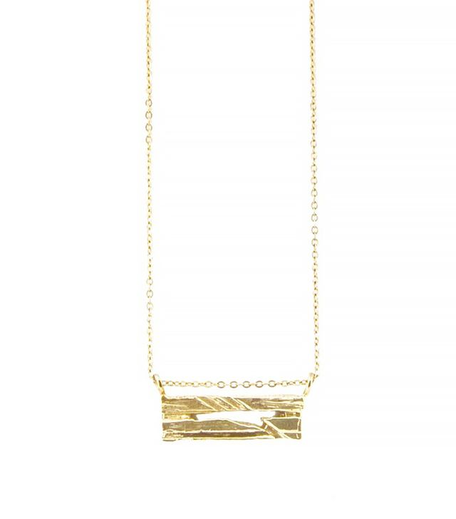 Androgyny 14k Gold Fractured Earth Necklace
